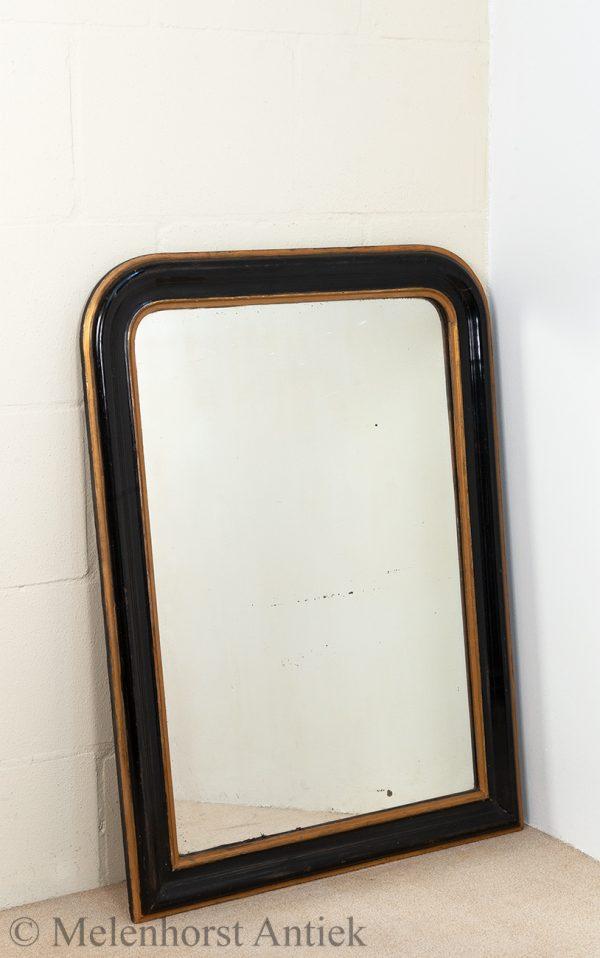 antieke spiegel zwart goud