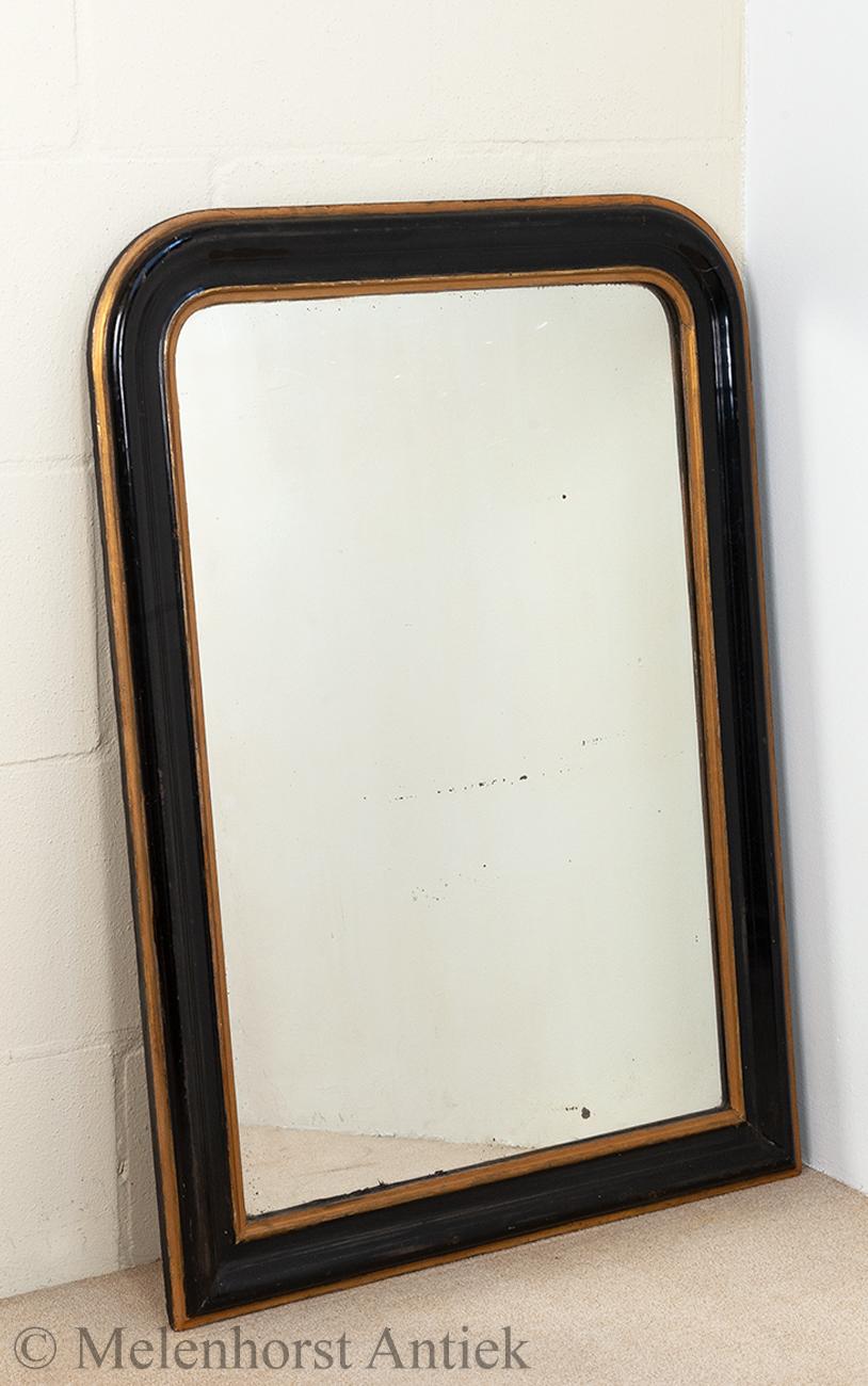 spiegel zwart met goud