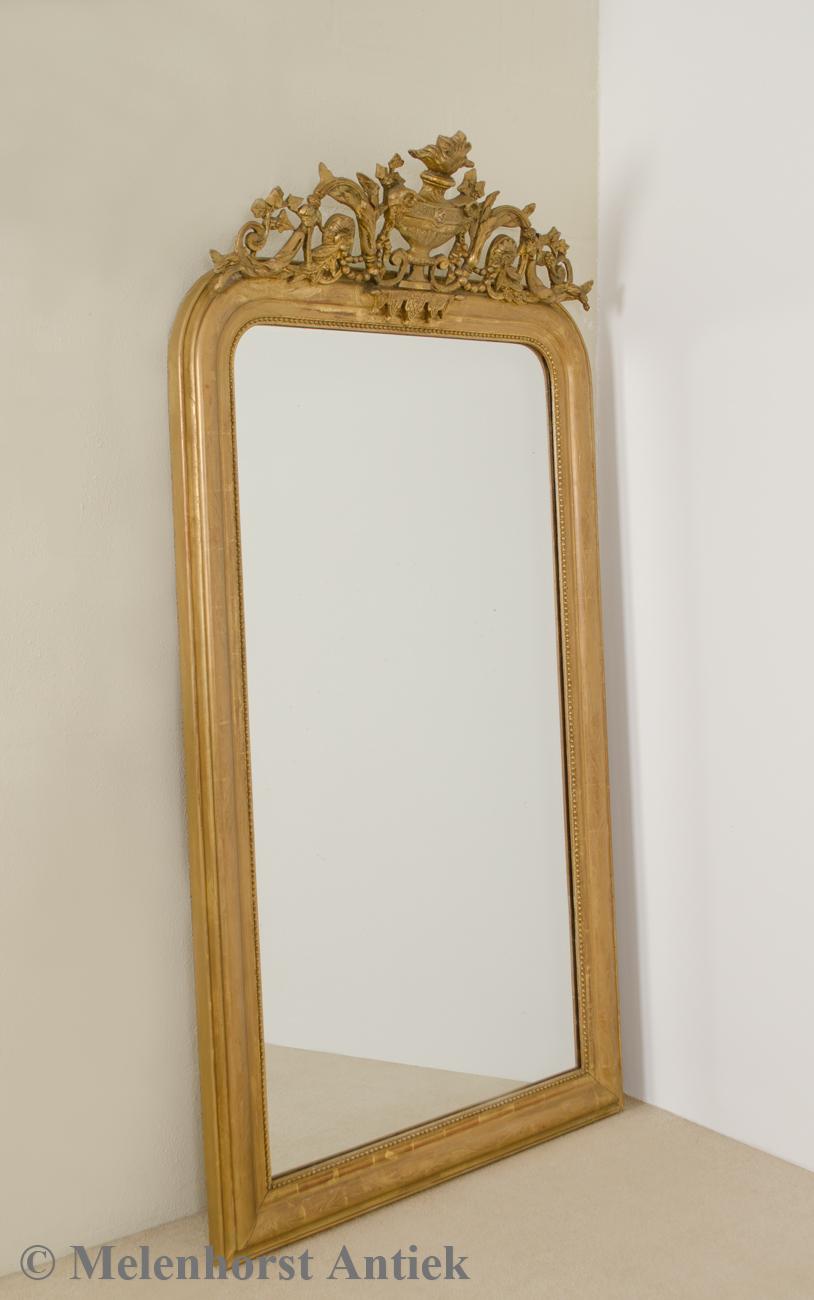 Antieke vergulde spiegel