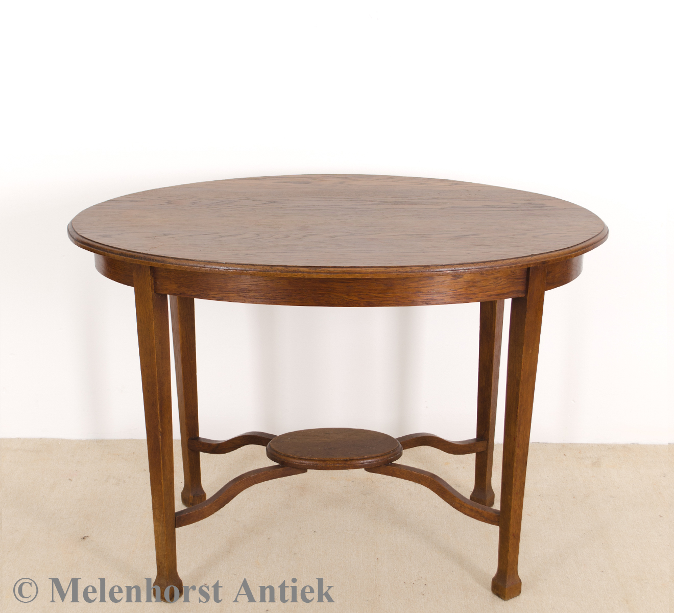 Antieke ovale eiken tafel