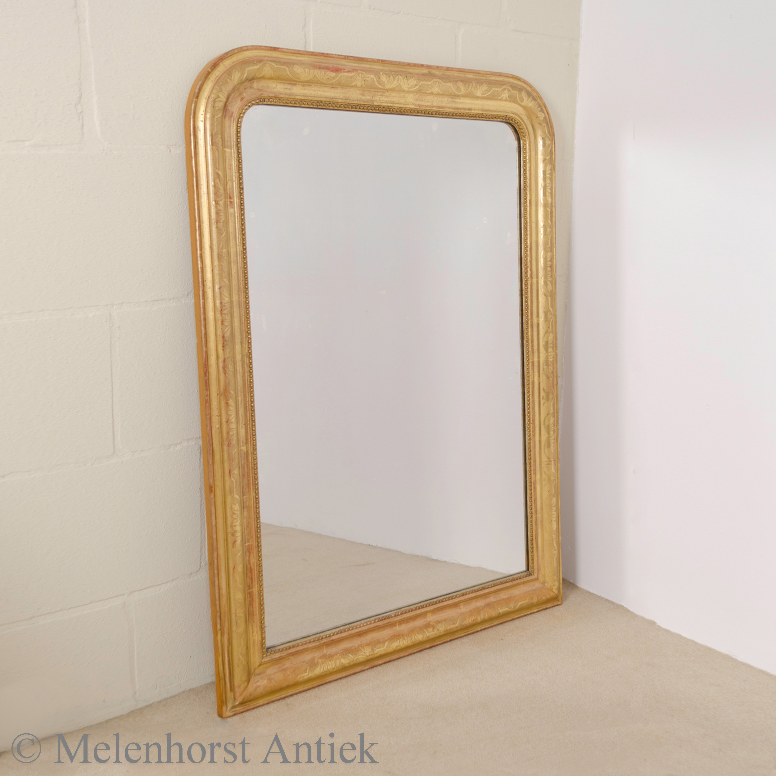 Franse spiegel met bladgoud