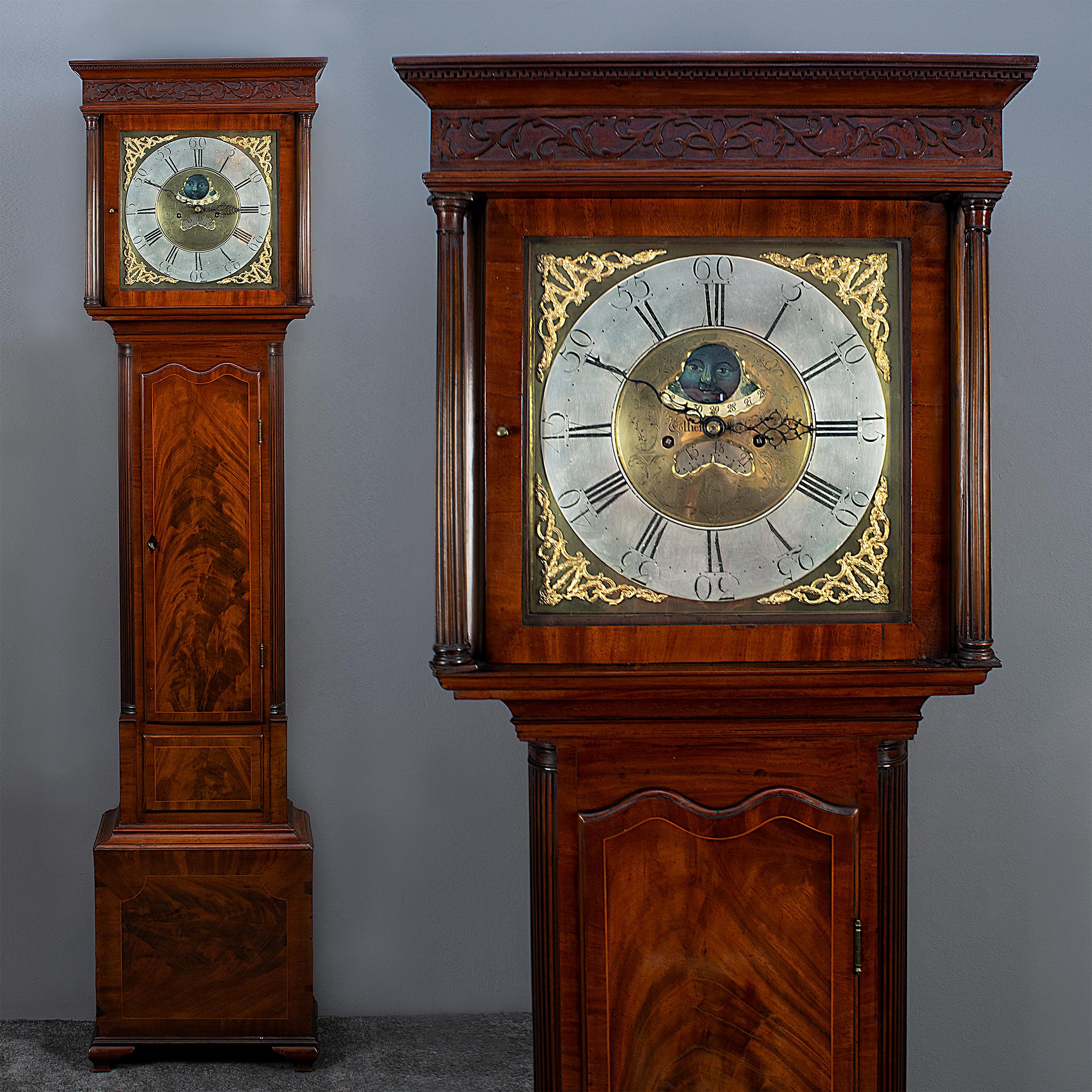 Mahonie Engelse staande klok