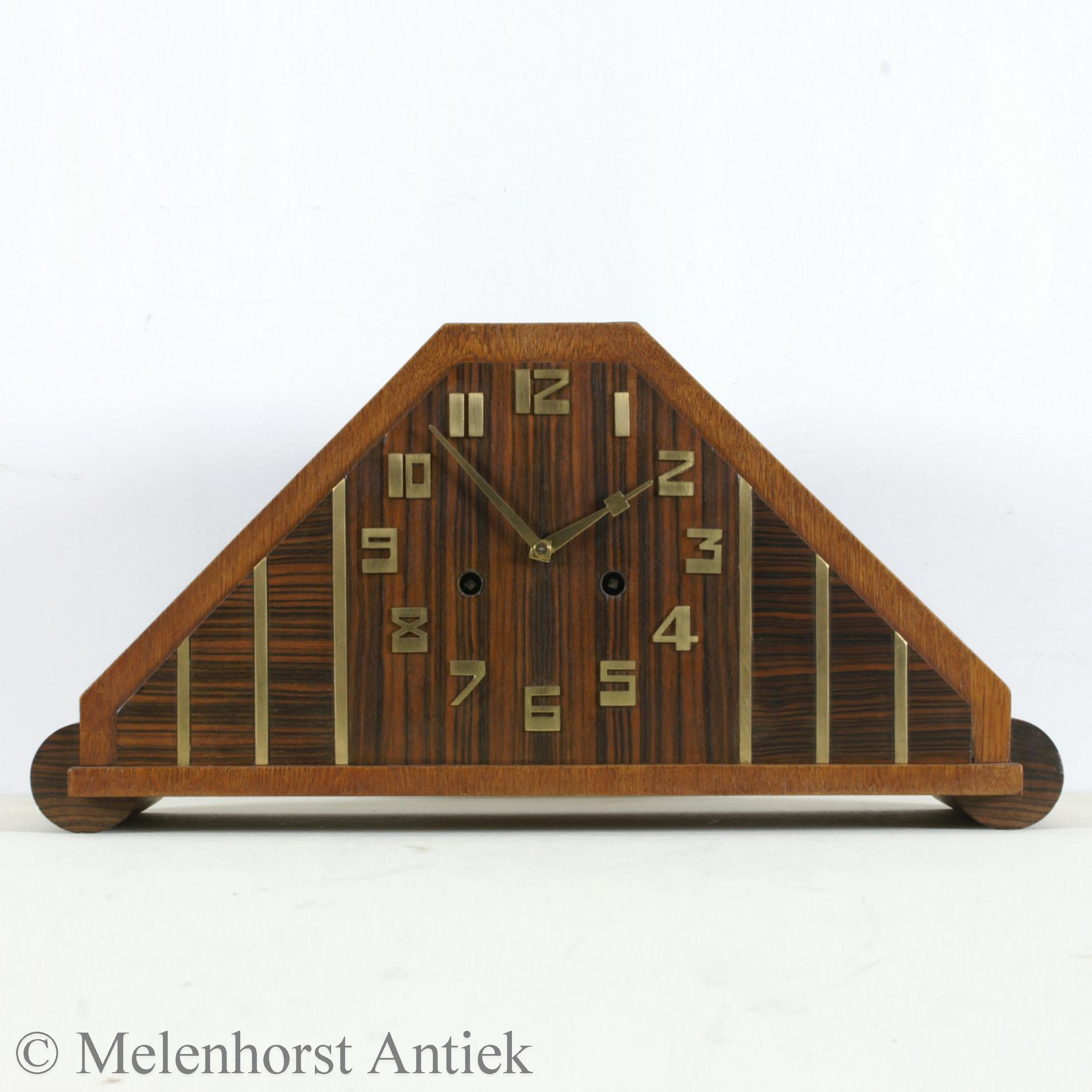 Art Deco pendule Hamburg Amerikanische Uhrenfabrik