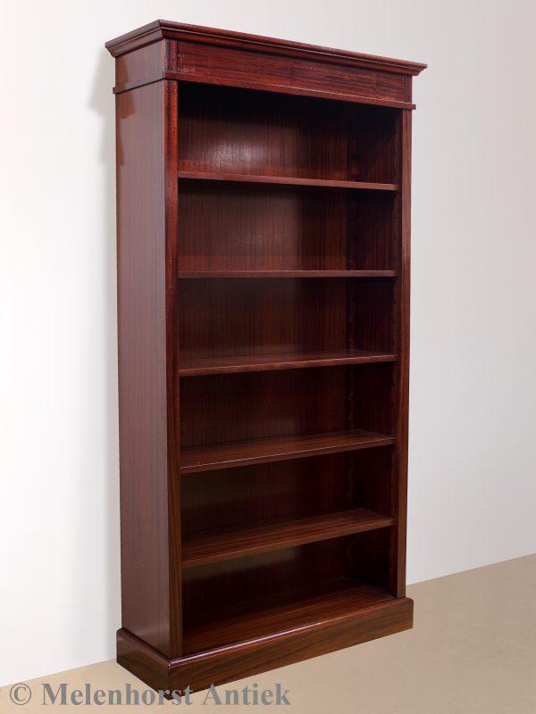 Handgemaakte mahonie boekenkast