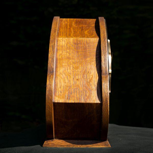 Art deco pendule met bronzen wijzerplaat
