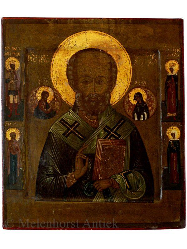 Icoon De Heilige Nicolaas bisschop van Myra