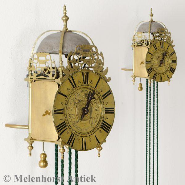Franse gesigneerde miniatuur lantaarnklok