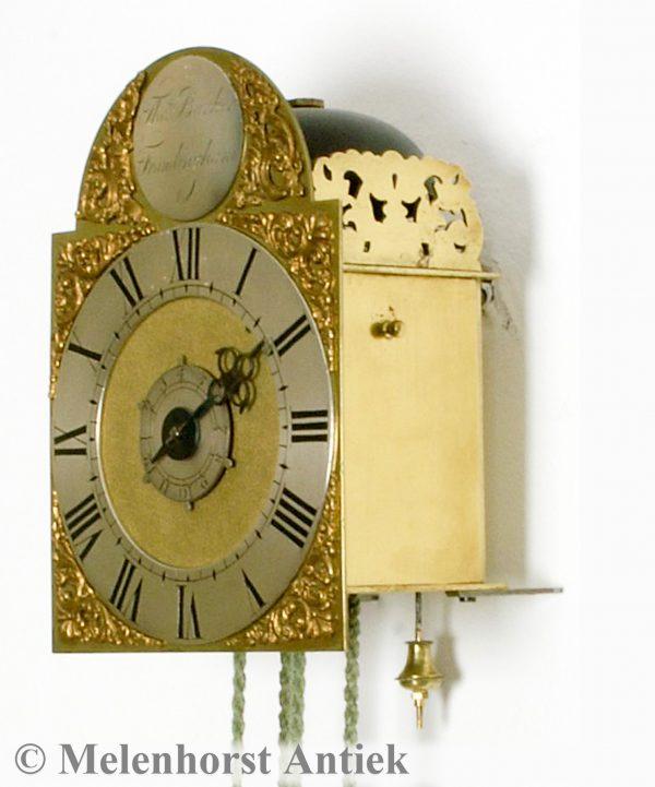 Engelse gesigneerde miniatuur lantaarnklok