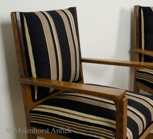 Twee Amsterdamse school stoelen