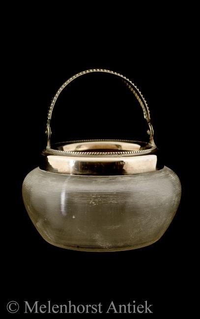 Roomstel, zilver met draadglas