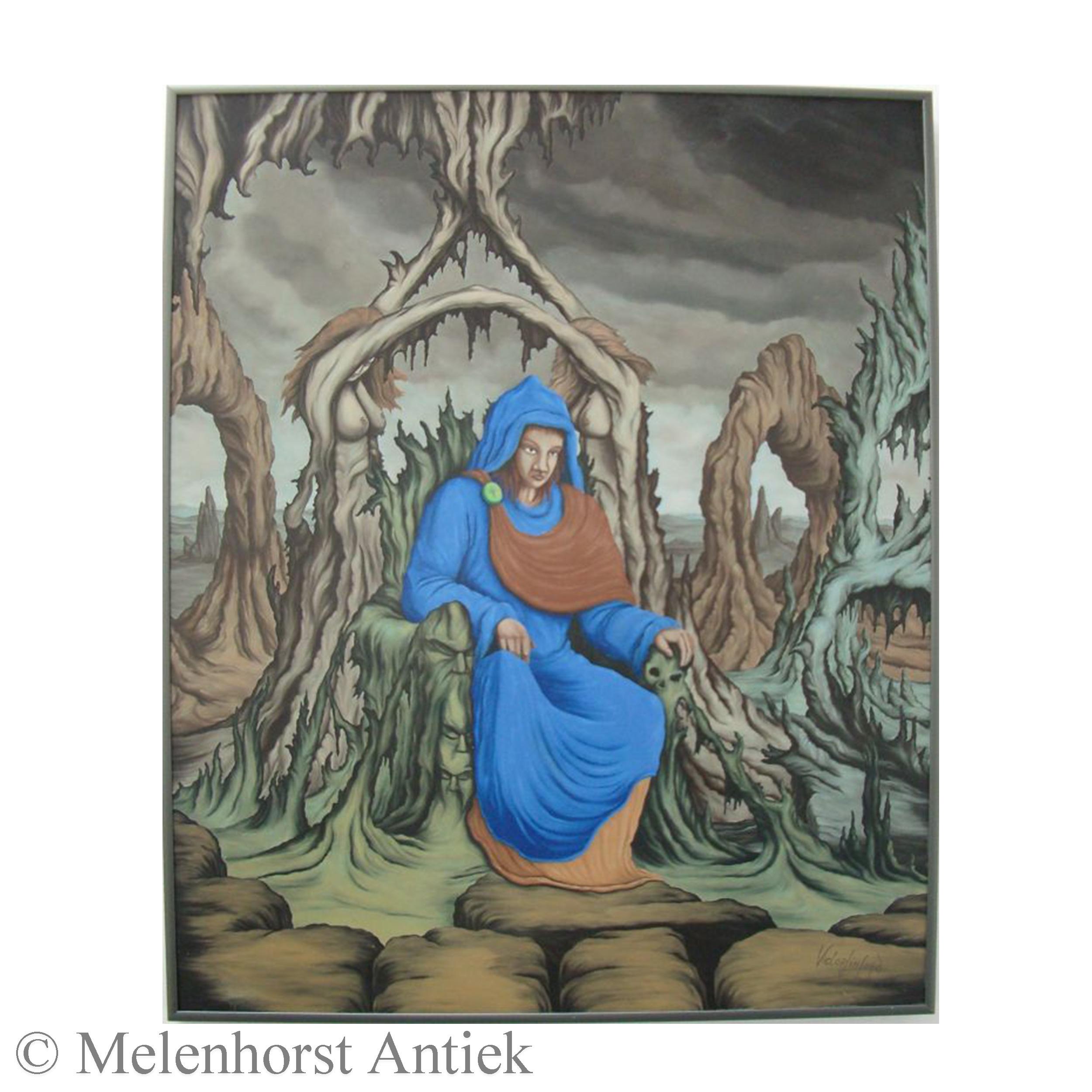 Schilderij gesigneerd Victor Linford