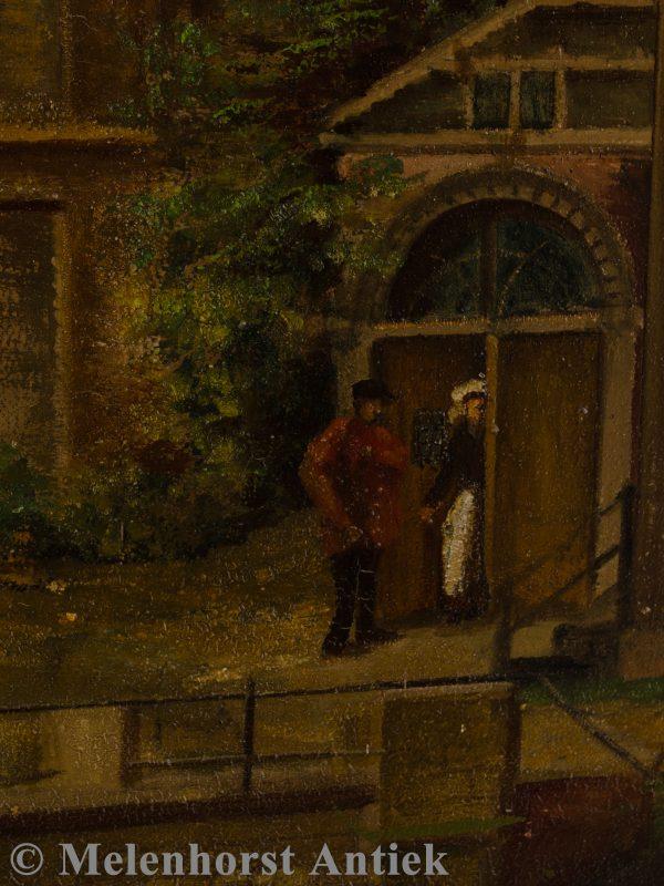 Schilderij 'Zicht op Brug'