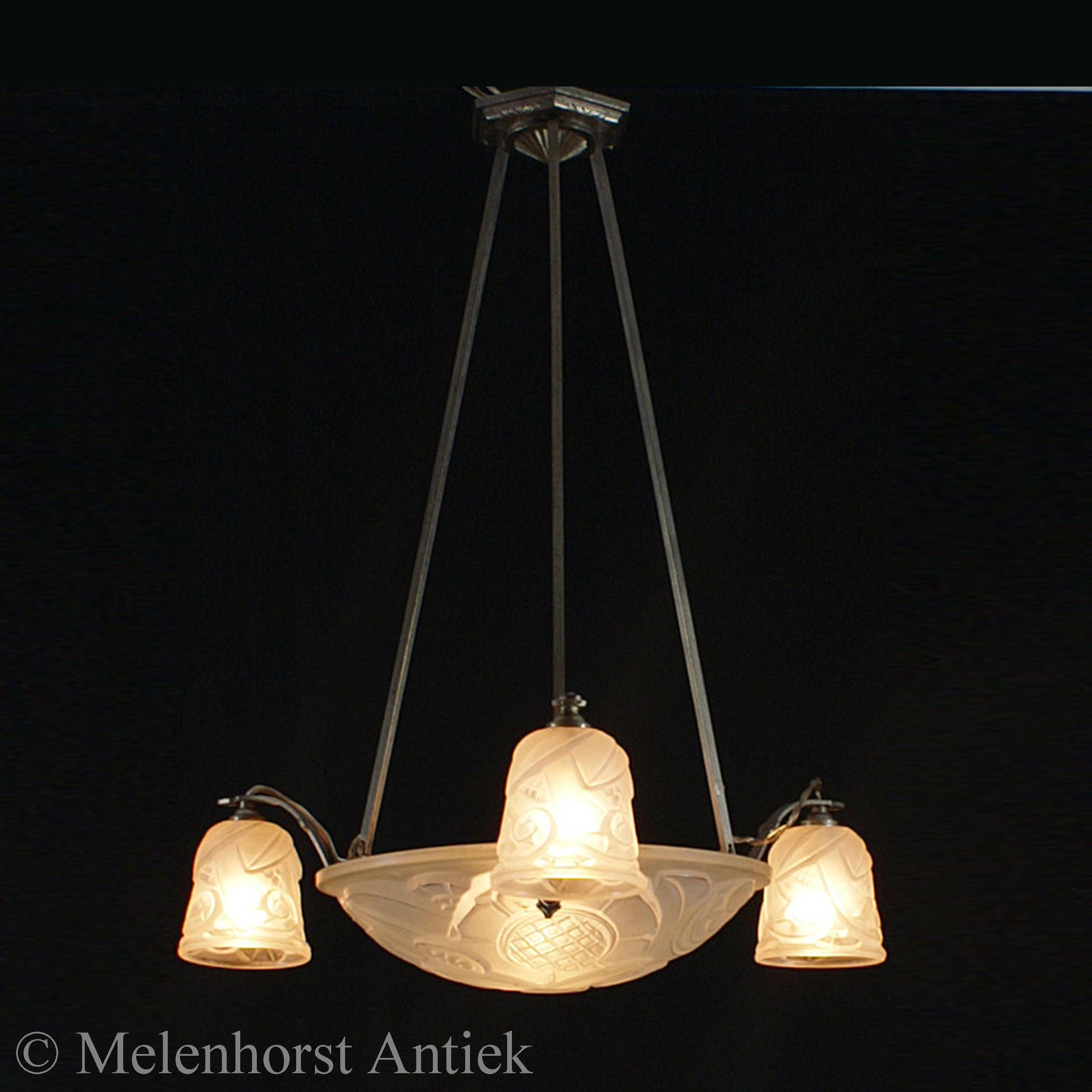 Franse art deco lamp