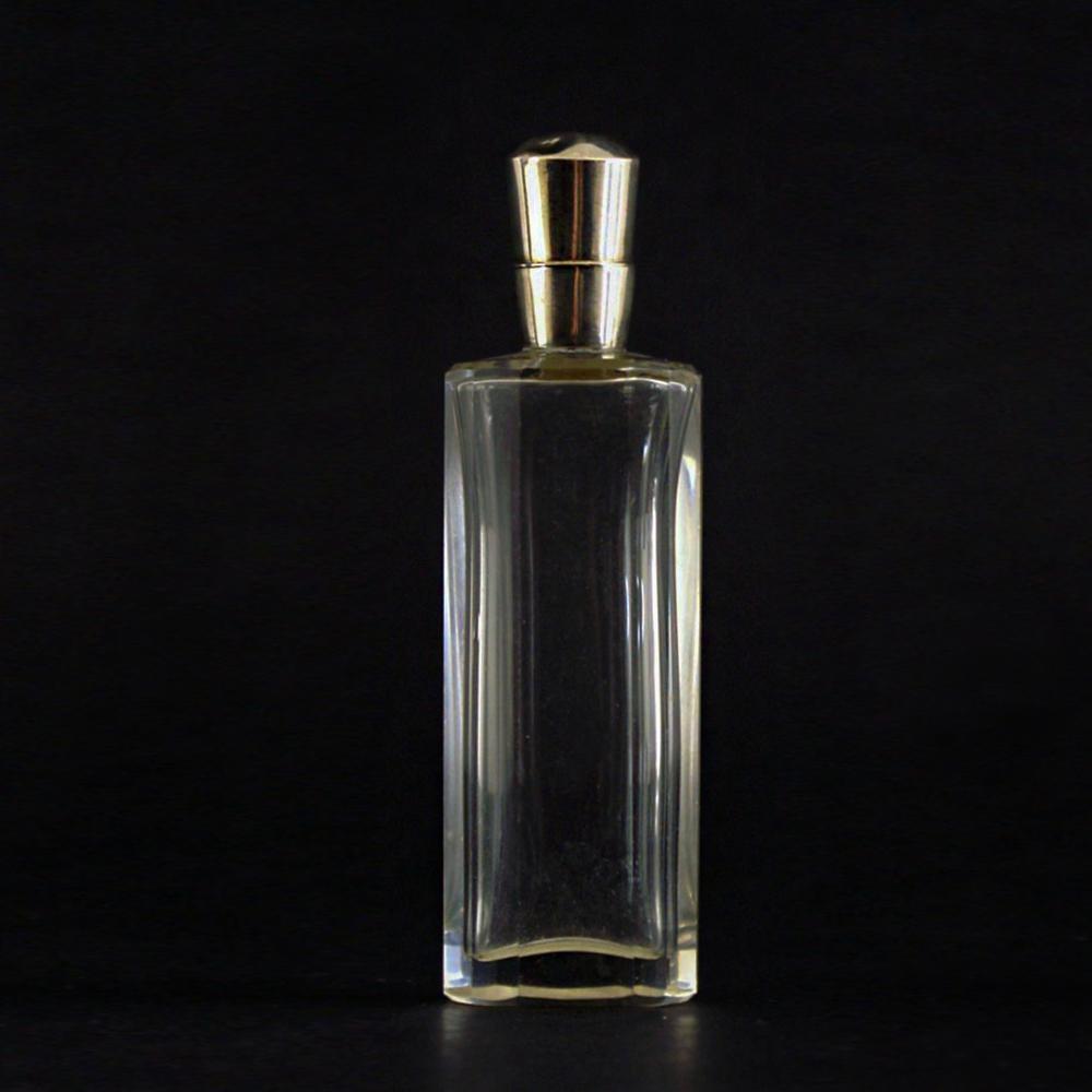 Kristallen parfumflesje met zilveren dop