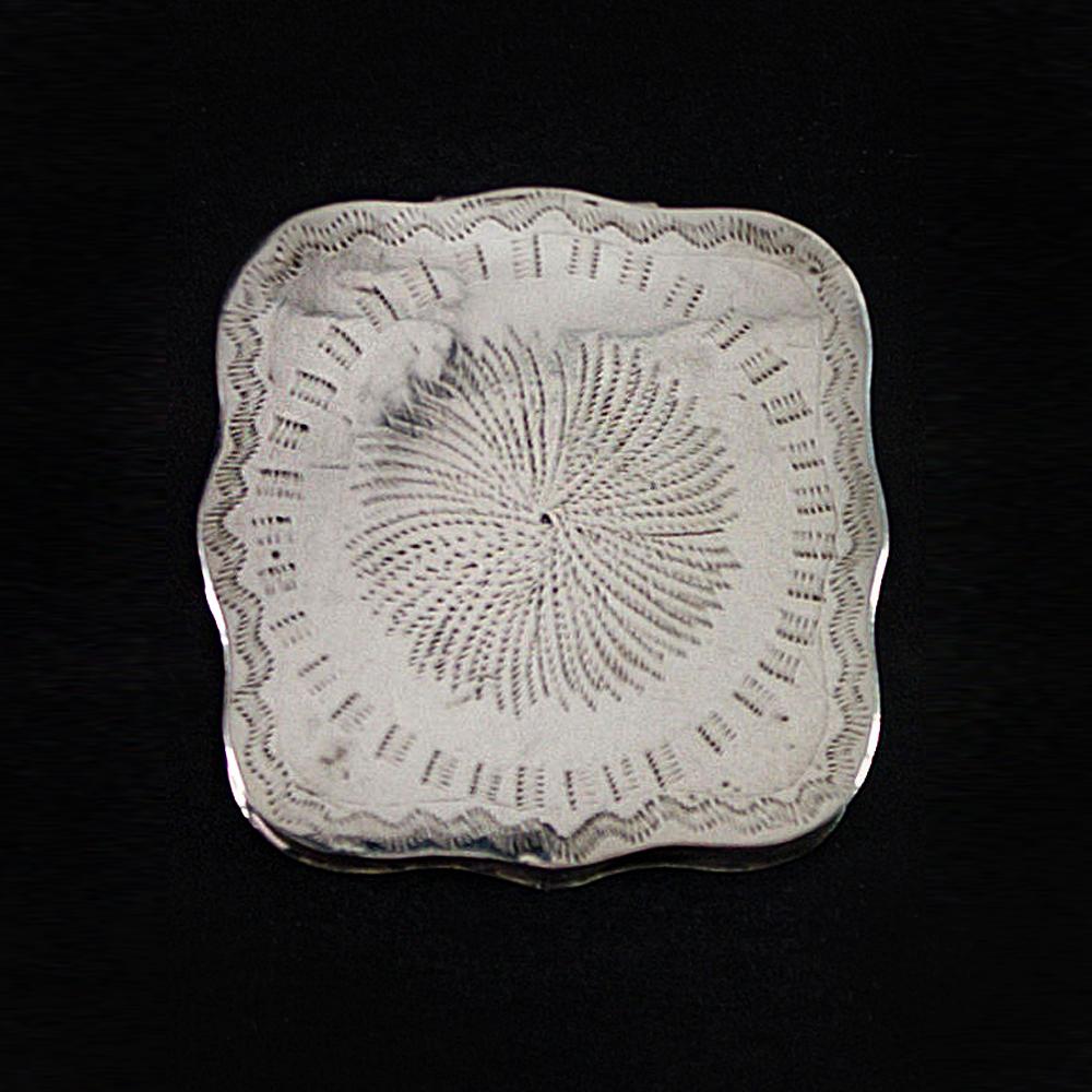 Antiek zilveren pillendoosje