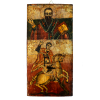 Icoon Heilige Georgius doodt draak