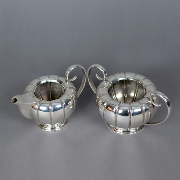 Zilveren roomstel