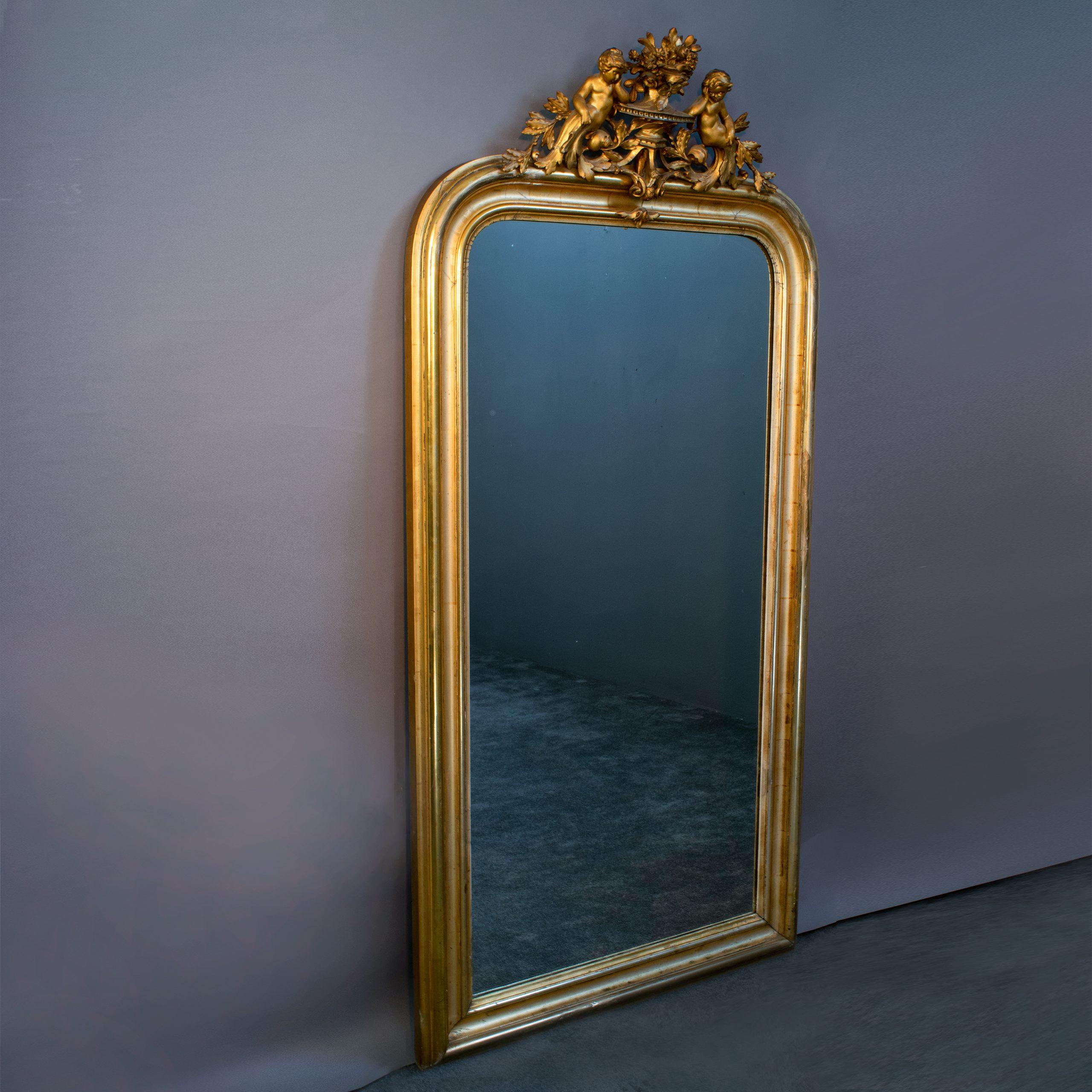 Romantische antieke spiegel