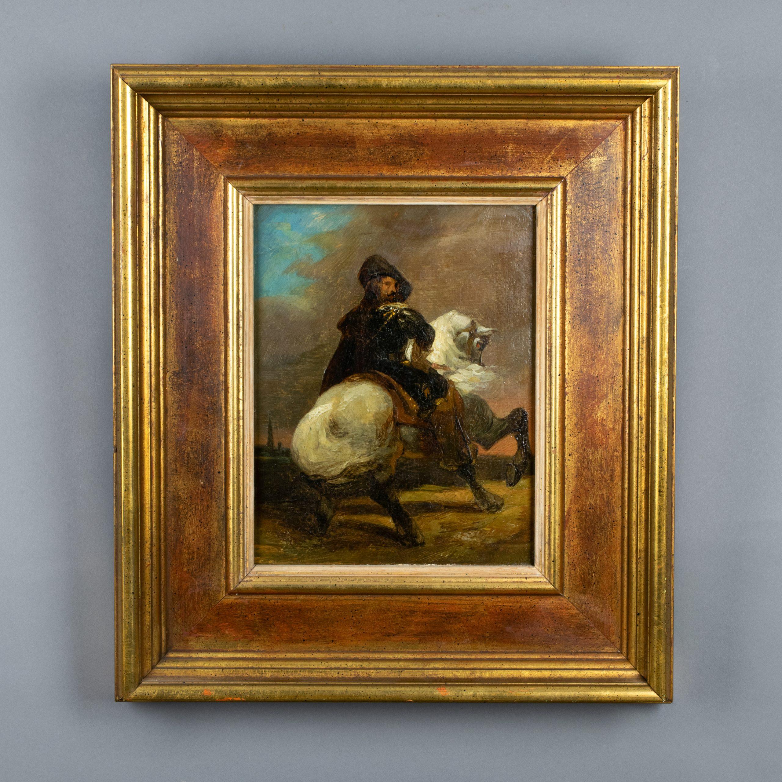 Schilderij veldheer te paard