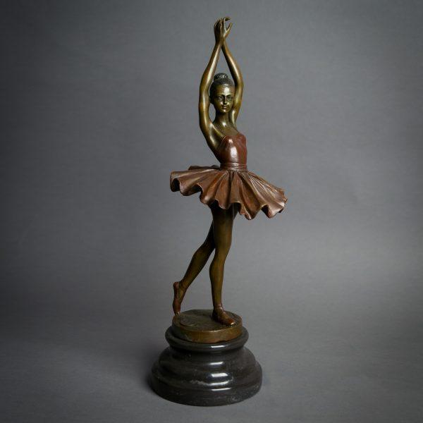 Bronzen beeld Balletdanseres