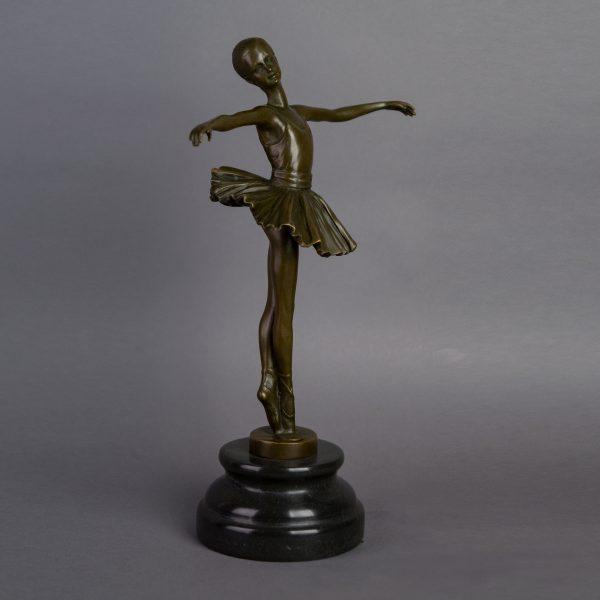 Bronzen beeld ballerina